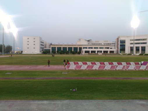 The warm up track where we start - before