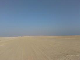 The desolate desert