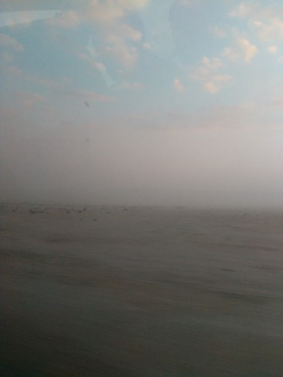 The fog begins to lift on the outskirts of Zekreet