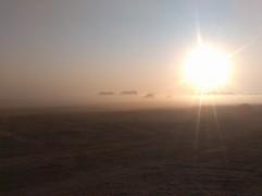 A fantastical, misty sunrise