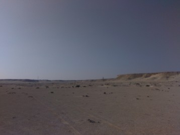 Richard Serra sculpture in the distance. My next waypoint