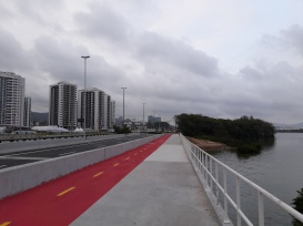The road from the Olympic Park