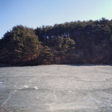 a frozen river